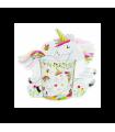Taza unicornio en bolsa regalo