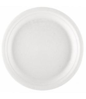 Platos redondos biodegradables