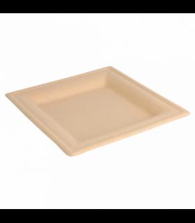 Platos cuadrados biodegradables